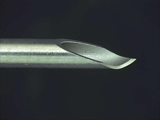 Processing example: Lancet point tip bending needle