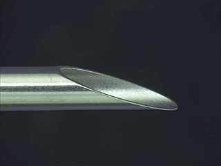 Processing example: Flat dull needle