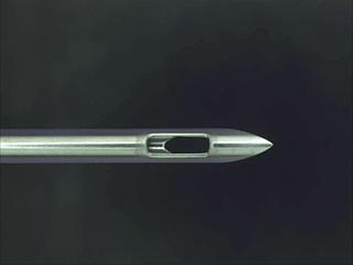 Machining example: EMG hole machining Artificial dialysis AVF needle